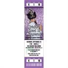 Mardi Gras Photo Ticket Invitation