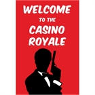 Casino Party Welcome Sign
