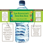Football Gear Theme Water Bottle Label