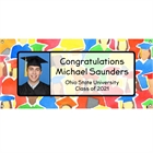 Graduation Crowd Theme Picture Banner
