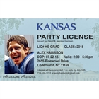 Graduation Driver's License Invitation or Announcement