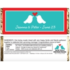 A Lovebirds Theme Candy Bar Wrapper
