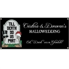 Halloween Tombstone Wedding Banner