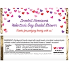 Heart Confetti Candy Bar Wrapper