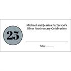 25th Anniversary Theme Seating Card