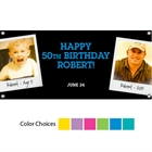 Birthday Polaroid Photo Theme Banner