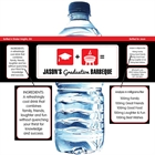 Graduation Icons Water Bottle Label