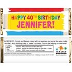 Birthday Paint Theme Candy Bar Wrapper