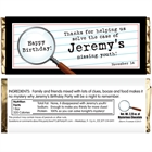 Mystery Theme Party Candy Bar Wrapper