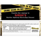 Crime Scene Theme Party Candy Bar Wrapper