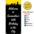 Pick Your Skyline Birthday Party Vertical Banner