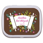 Bat Mitzvah Torah Flowers Custom Mint Tin