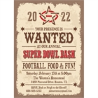 Western Theme Super Bowl Party Invitation