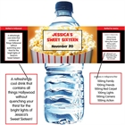 Hollywood Popcorn Theme Water Bottle Label
