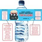 Movie Clapboard Water Bottle Label