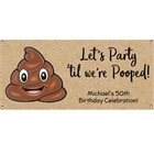 Party Pooper Theme Birthday Banner