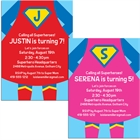 Superhero Theme Party Invitation