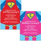 Superhero Theme Party Invitation