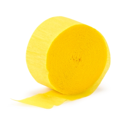 Yellow Crepe Paper