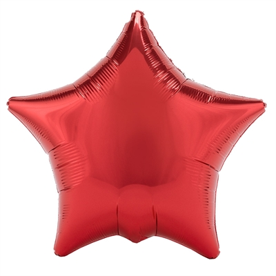 Red Metallic Star Foil Balloon