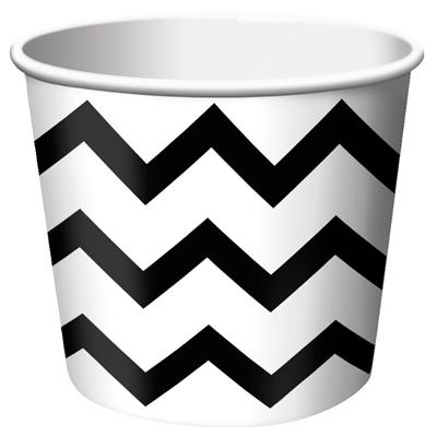 Chevron Stripe Treat Cups - Black (6)
