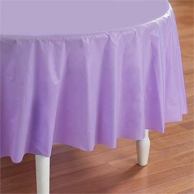 Lavender Round Plastic Tablecover