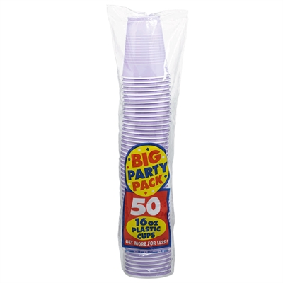 Lavender Big Party Pack 16 oz. Plastic Cups (50)