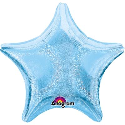 Pastel Blue Dazzler Star Foil Balloon