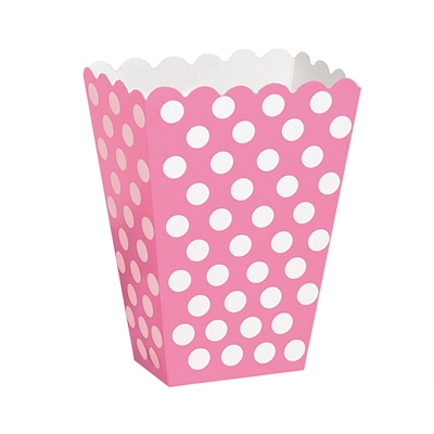Pink Dot Treat Boxes (8)
