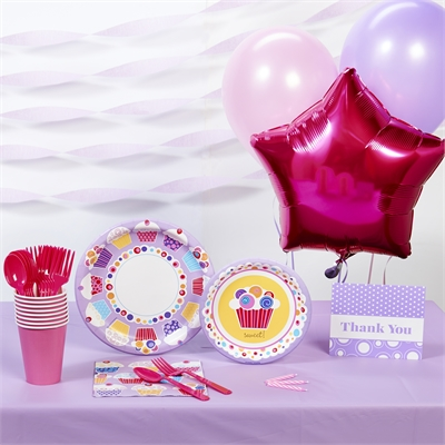 Sweet Cupcake Basic Party Pack