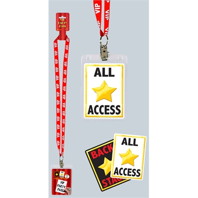VIP Hollywood Party Pass and Lanyard