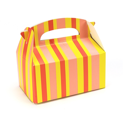 Orange Striped Empty Favor Boxes (4)