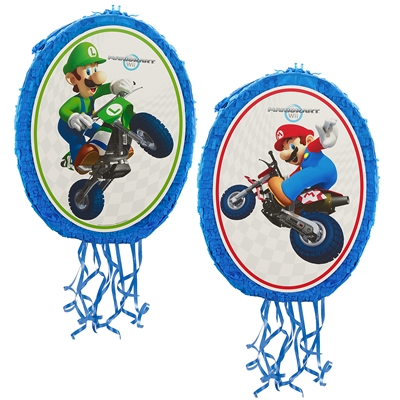 Mario Kart Wii Mario and Luigi 18'' Pull-String Pinata