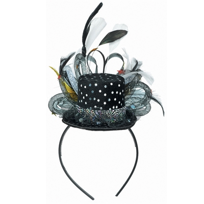 Hollywood Top Hat Feather Fascinator