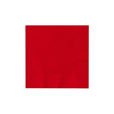 Red Beverage Napkins (50)