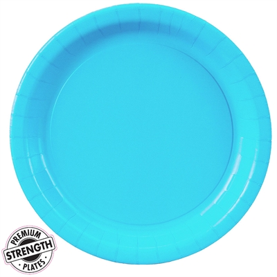 Turquoise Paper Dinner Plates (24)