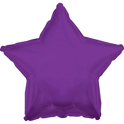 Purple Star Foil Balloon