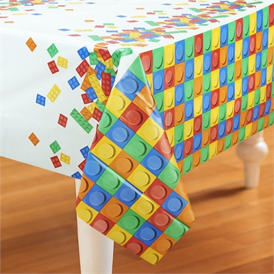 Building Block Party Plastic Tablecover