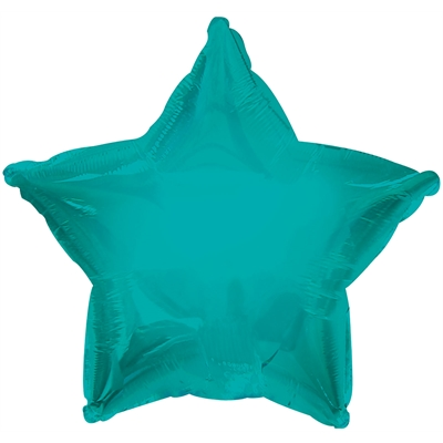 Turquoise Star Foil Balloon