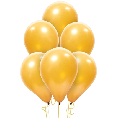 Gold Latex Balloons (6)