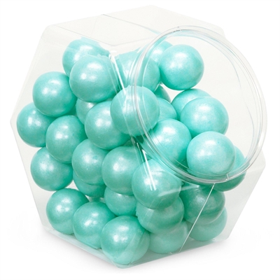 Shimmer Turquoise Gumballs (8oz)