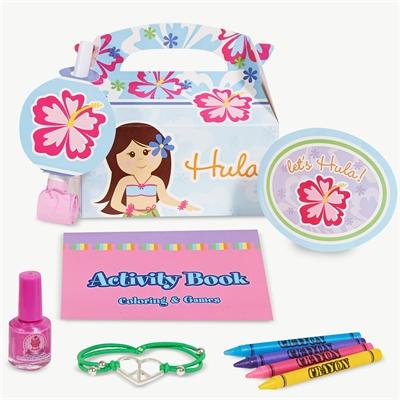 Hawaiian Girl Party Favor Box