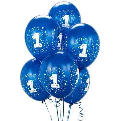 Royal Blue #1 Balloons (6)