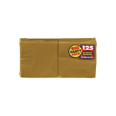 Gold Beverage Napkins (125)