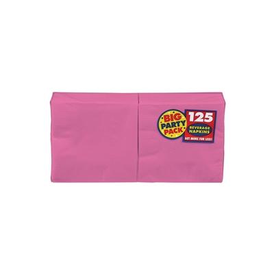 Bright Pink Beverage Napkins (125)