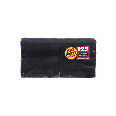 Black Beverage Napkins (125)