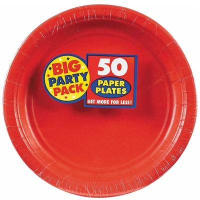 Apple Red Dinner Plates (50)