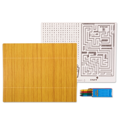 Bamboo Activity Placemat Kit for 4