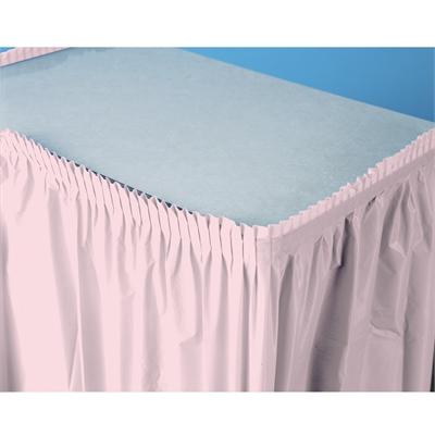 Light Pink Plastic Table Skirt