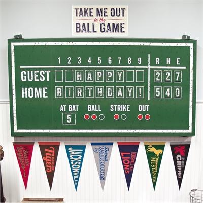 Baseball Time Hanging Scoreboard